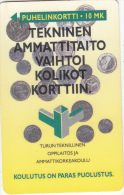 FINLAND - Technical Skill, Turun Puhelin  Telecard, CN : 0000, Tirage 5500, Exp. Date 12/95, Used - Finland