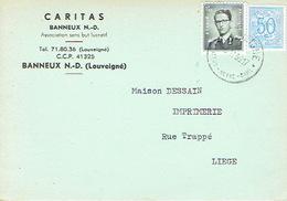 CP Publicitaire BANNEUX N.-D. 1959 - CARITAS - Sprimont