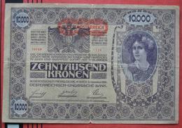"""10000 Kronen 2.11.1918 (WPM 66) - Overprint / Überdruck """"Deutschösterreich"""" - II. Auflage - Austria"""