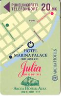 FINLAND - Arctia Hotels/Marina Palace, Turun Puhelin Telecard, Tirage 3500, Exp.date 12/97, Used - Finland