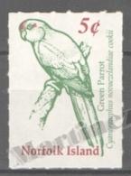 Norfolk Island 2001 Yvert 700A, Definitive, Green Parrot - MNH - Norfolk Island