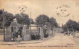 77-BOIS-LE-ROI- AVENUE ET PLACE DE LA GARE- MAISON PICAULT- CAFE TABAC - Bois Le Roi