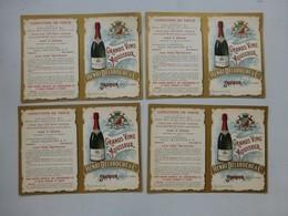 Saumur Grands Vins Henri Delaroche, Publicité Art Nouveau, Lot De 4  ; PAP02 - Publicités