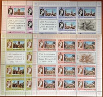 Montserrat 1978 Coronation Anniversary Sheetlet Set MNH - Montserrat