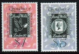 St.Vincent & Grenadines 1990 Set Of Stamps Commemorating Stamp World London 90. - St.Vincent & Grenadines