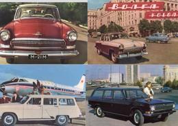 VOLGA   -  Lot De 4 Voitures/Automobiles  -  4 X Cartes Postales Modern - 4xCPM - Voitures De Tourisme