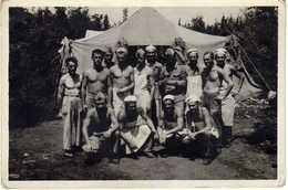 Small Photo ( 8.5 Cm / 6.5 Cm ). Bosnia And Herzegovina,Trebinje,military Bakers 1954 - Mestieri