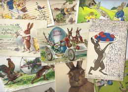 Lot 1798 De 10 CPA Lapins Bunny Dont Position Humaine Fantaisies Déstockage Pour Revendeurs Ou Collectionneurs - 5 - 99 Cartoline