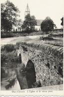 OUR (Paliseul) - Eglise Et Pont Avec Dame Assise - Circulé Sans Timbre - Edit. Gustave Godfroid - Photo Dessart - Paliseul