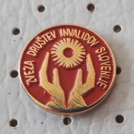 Federation Of Persons With Disabilities Slovenia Deaf Blind Sourd Aveugle Slovenia Pin - Medical
