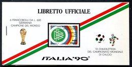 Z1538 ITALIA REPUBBLICA 1990 Libretto Ufficiale Coppa Del Mondo Di Calcio  ITALIA '90 Con 6 Francobolli Germania Campion - 6. 1946-.. Republic