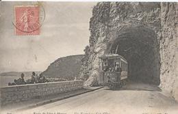 CPA 288-- Route De NICE A MONACO Un Tunnel Au Cap D'EZE - Tramway - Eze