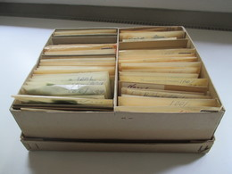 Alter Tütenposten Norwegen 1940/60er Jahre Freimarken! Tausende Marken! Gestempelt. Auch Paare!! Fundgrube!! Ca. 10000st - Collections (without Album)