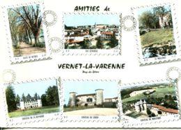 N°73998 -cpsm GF Amitiés De Vernet La Varenne -multivues- - France