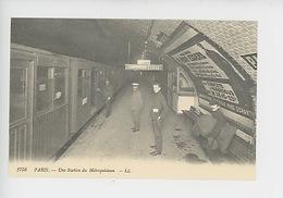 Paris : Une Station De Métropolitain Station Pasteur Direction Etoile (c'était La France N°1758 Cp Vierge) - Métro Parisien, Gares