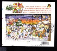 793386908 OCB - BOC 2002 BL98 FDC CHRISTMAS KERSTMIS NOEL - Blocs 1962-....