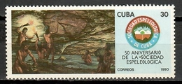 Cuba 1990 / Prehistory Speleology MNH Prehistoria Espeleología Prähistorie / Cu11811  C1-1 - Prehistoria