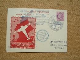 Carte Postale Affranchie Oblitération Exposition Philatélique Du Prisonnier Paris 1946 - Marcophilie (Lettres)