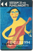 FINLAND - Turku Music Festival 1994, Turun Puhelin Telecard, Tirage 9000, Exp.date 12/96, Used - Finland