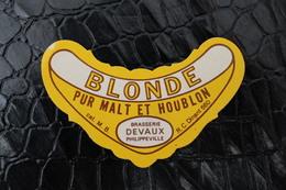 Brasserie - Brouwerij  - Etiquettes Bière - Beerlabel-bieretiket /  Etiquettes / Brasserie Devaux ,  Philippeville - Beer