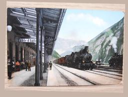 Entrée De Train Maison D'édition Du Tunnel Du Gothard Goetz Luzern Suisse - Sin Clasificación