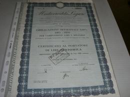 AZIONE MEDIOCREDITO LIGURE OBBLIGAZIONI SETTENALI - Banca & Assicurazione