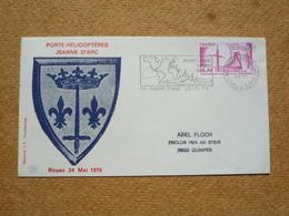 Enveloppe Commémorative Oblitération Porte-hélicoptères Jeanne D'Arc Corbin 1979 - Postmark Collection (Covers)