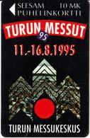 FINLAND - Turn Messut, Turku Fair 1995, Turun Puhelin Telecard, Tirage 10300, Exp.date 12/97, Used - Finland