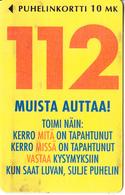 FINLAND - 112, Turun Puhelin Telecard, Tirage 10000, Exp.date 12/97, Used - Finland