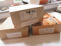 Alter Tütenposten Dänemark 1950/60er Jahre Freimarken! Tausende Marken! Gestempelt. Auch Paare!! Fundgrube!! Ca. 15000st - Collections (without Album)