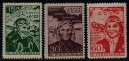 Russia / Sowjetunion 1939 - Mi-Nr. 690-692 ** - MNH - Moskau - Ferner Osten (3) - Unused Stamps