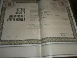 AZIONE MITTEL SOCIETA' INDUSTRIALE MEDITERRANEA - Azioni & Titoli