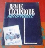 Revue Technique Etude De La Simca SIX Réédition 1954 - Auto