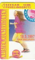 FINLAND - Naantalin Kylpyla/Talla Naisten Kuntovitosen, Turun Puhelin Telecard, Tirage 10100, Exp. Date 12/98, Used - Finland