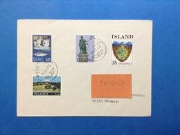 1975 ISLANDA ISLAND BUSTA POSTAL HISTORY 4 STAMPS - 1944-... Repubblica
