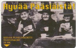 FINLAND - Hyvaa Paasiaista, Turun Puhelin Telecard, CN : 7010(above The Text), Tirage 7600, Exp.date 06/99, Used - Finland