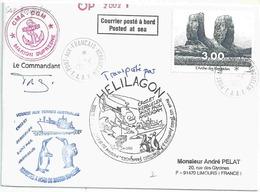 YT 296 - L'arche Des Kerguelen - Posté à Bord Du MD - Port Aux Français - 01/04/2002 - Transporté Par Hélilagon - Terre Australi E Antartiche Francesi (TAAF)