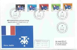 YT 294 à 498 - Drapeau Des TAAF - Dumont D'Urville - 01/01/2008 - FDC