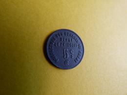 Rare Jeton De Frigolet 5ct Prefecture Des Bouches Du Rhone - Noodgeld