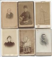 6 Vieux Cartes Photographie Artistique - Personages Differents - Voir Les Dos Pour Differents Noms De Photographes - Photographie
