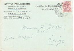 CP Publicitaire MELREUX - HOTTON 1952 - INSTITUT PREUDHOMME - Librairie - Hotton