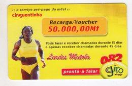 MOZAMBIQUE RECHARGE GIRO 50 000 Mt Année 2009 LURDES MUTOLA - Mozambique