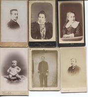 7 Vieux Cartes Photographie Artistique - Personages Differents - Voir Les Dos Pour Differents Noms De Photographes - Photographie