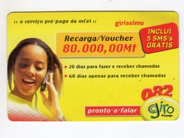 MOZAMBIQUE RECHARGE GIRO 80 000 MT Année 2005 - Moçambique