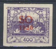 Tchécoslovaquie - Silesie Orientale 1920 Mi 23 A (Yv 16), (MH)*, Trace De Charniere - Czechoslovakia