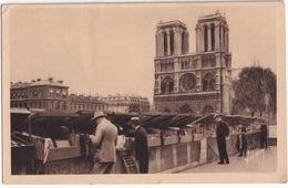 Paris... En Flanant - Les Bouquinistes Du Quai Saint-Michel  - Notre-Dame - (1935) - Notre-Dame De Paris