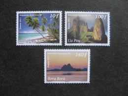 Polynésie: TB Série N° 957 Au N° 959 ,neufs XX . - Polynésie Française
