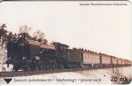 FINLAND - Steam Train, Turun Puhelin Telecard, Tirage 21900, Exp.date 06/01, Used - Finland