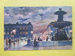 PARIS. La Place De La Concorde. - Parijs Bij Nacht