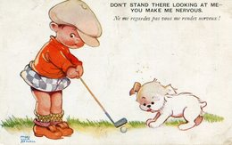 Don't Stand There Looking At Me You Make Me Nervous Stress Golf Illustré Humour Par Mabel Lucie Attwell - Attwell, M. L.